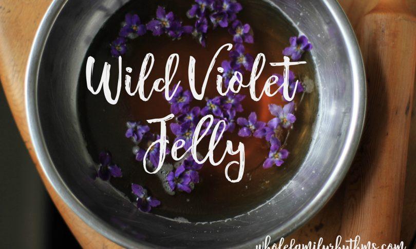 In the Kitchen : Wild Violet Jelly