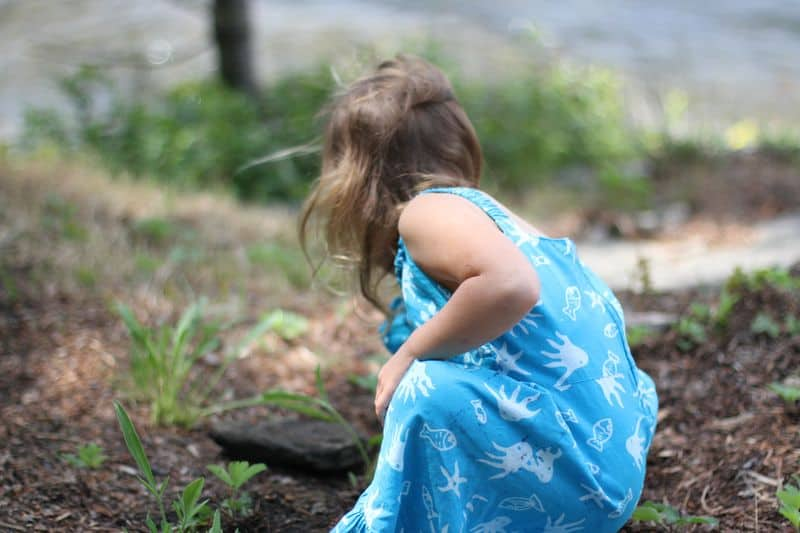 Young girl on a hike