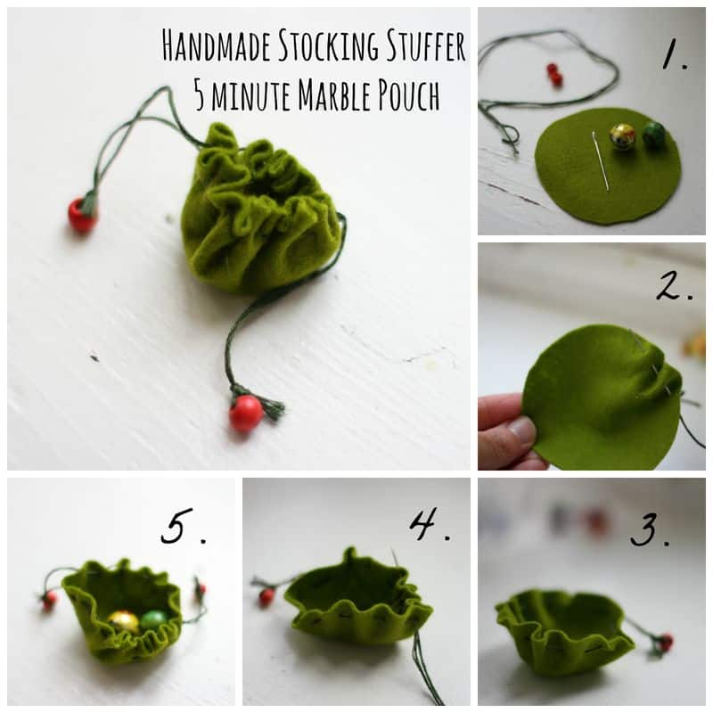 Handmade Stocking Stuffer: 5 Minute Marble Pouch