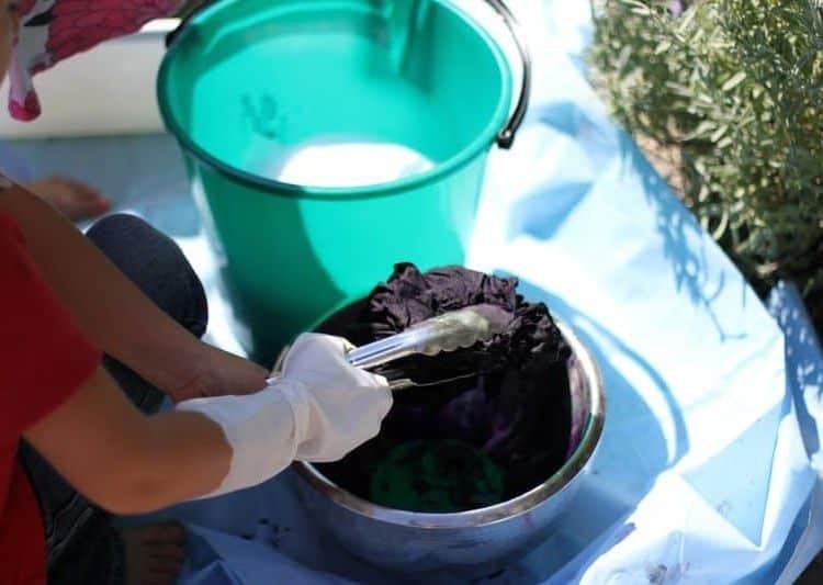Dyeing Play Silks