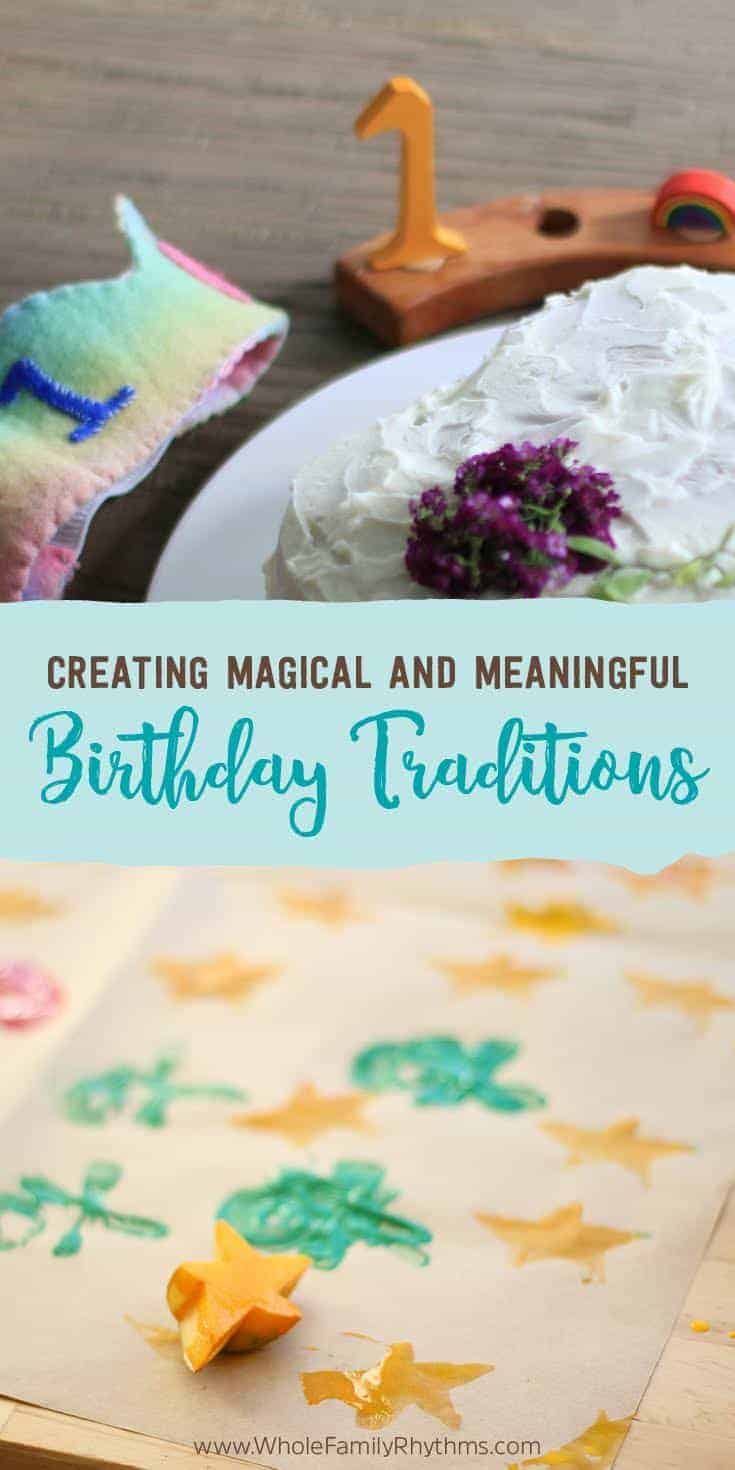 Over the years I've had many questions about our own family's birthday traditions- how we celebrate, what we do and what we avoid.